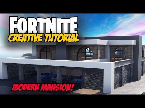 Fortnite Creative Tutorial: Modern Mansion Build