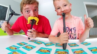 Father & Son PLAY MOUSTACHE SMASH! Smash The Stache First!
