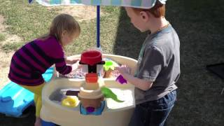Step2 High Seas Adventure Sand & Water Table With Umbrella Video Review