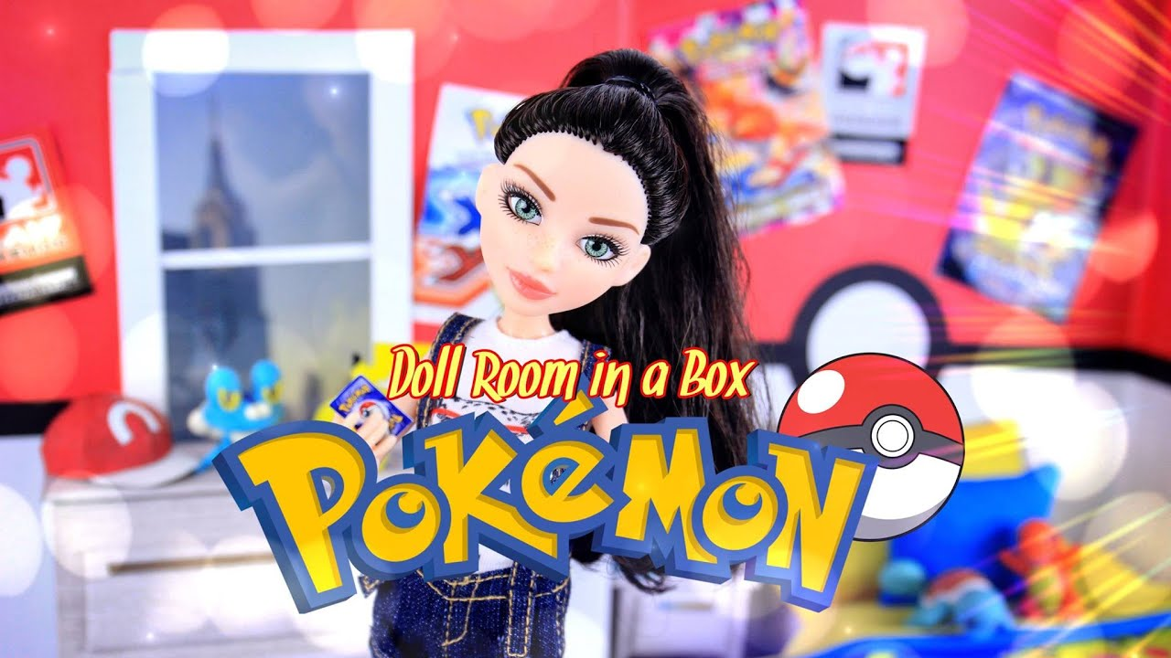 diy how to make doll room in a box pokemon handmade room decor youtube. Black Bedroom Furniture Sets. Home Design Ideas