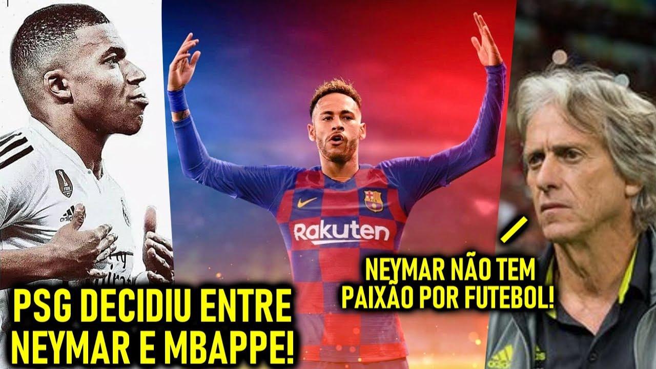 NEYMAR no BARÇA ou MBAPPÉ no REAL!? – Ninguém vera MESSI e CR7 nos JOGOS! – JJ CRÍTICA Neymar!