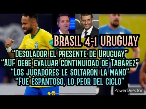 """BRASIL 4-1 URUGUAY ⚽️ LAPIDARIO Post Partido con Charquero y Buysan • """"Lo peor del proceso"""" 🎧"""