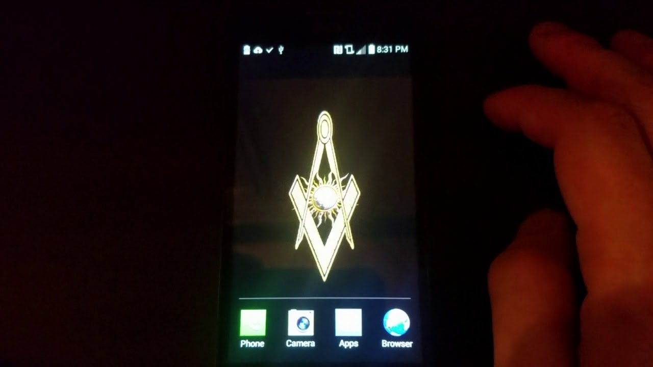Masonic Square And Compass With Rotating Sun Live Wallpaper For Android Black Background
