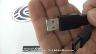 Cable híbrido eSATAp a eSATA y USB A macho distribuido por CABLEMATIC ®