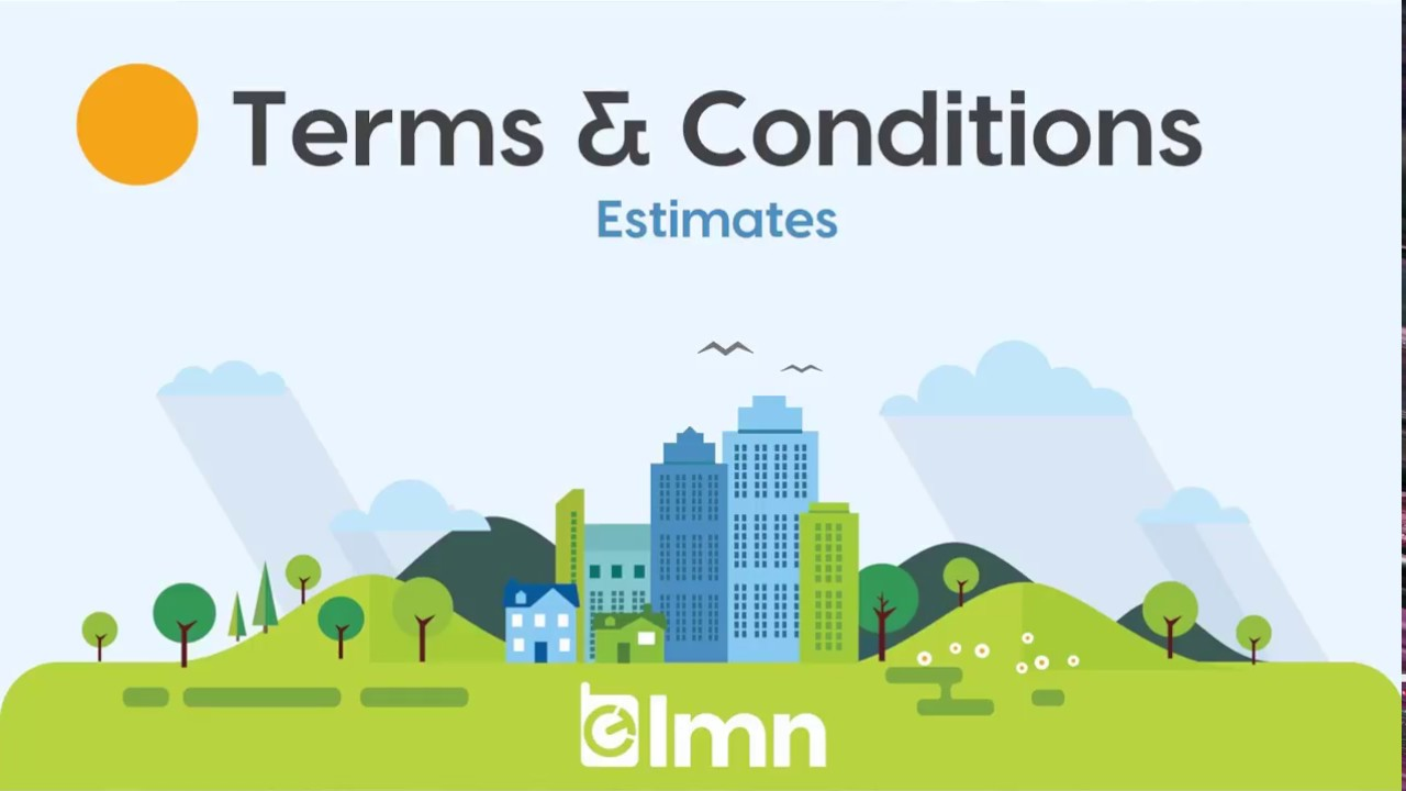 estimate terms and conditions
