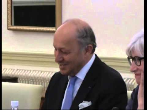 French foreign minister meets his Indian counterpart in New Delhi