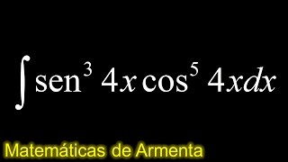 integral de potencias de senos y cosenos ejemplo 3
