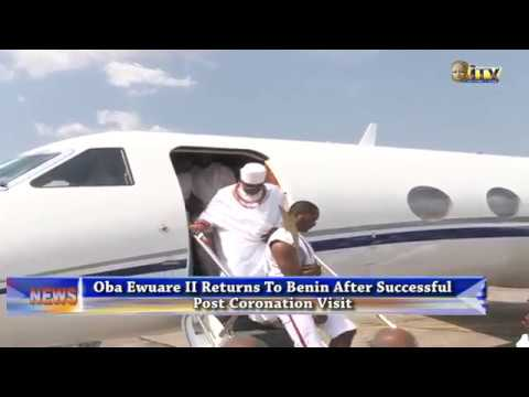 Oba of Ewuare II returns to Benin after successful post coronation visit