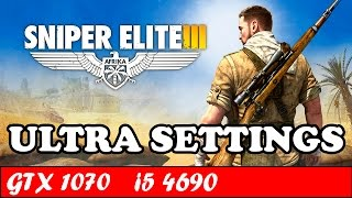 Sniper Elite 3 (Ultra Settings) | GTX 1070 + i5 4690 [1080p 60fps]