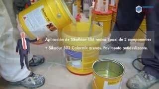 Pavimento de resina epoxi Sika en una cocina