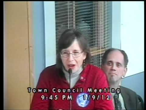 Town of Durham Town Council Public Hearing for the Durham Public Library - Judith Spang