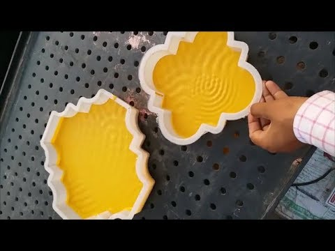 how to make glossy coloured interlock paver making easily