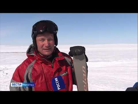 Праздничный заезд горнолыжников