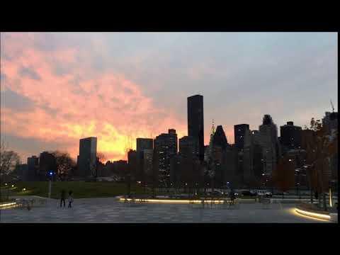 マンハッタンの夕焼けが絵になる!   Beautiful Sun Setting in Manhattan