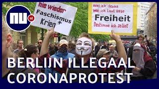 Honderden mensen in Berlijn protesteren tegen coronamaatregelen