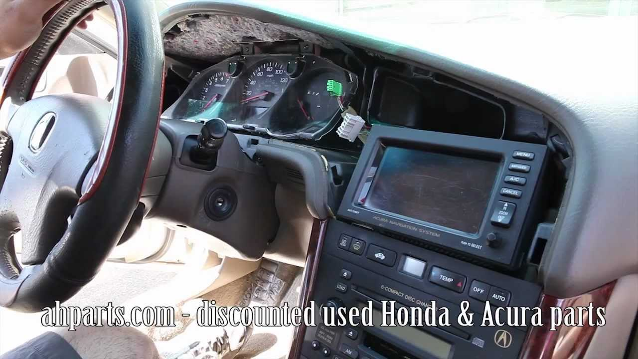 how to change replace install radio navigation screen 1999 2000 2001 2002 2003 acura tl replacement [ 1280 x 720 Pixel ]