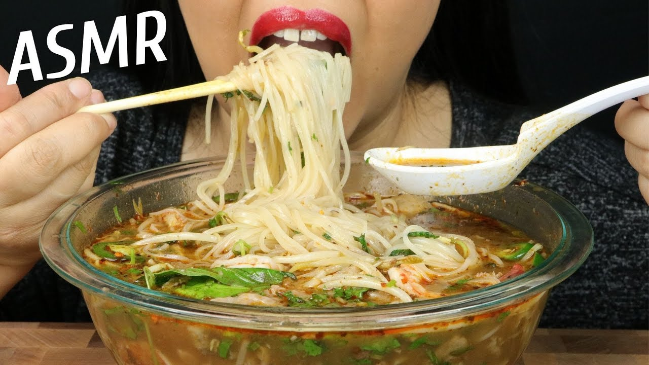 Homemade Pho Asmr No Talking Eat Life With Kimchi Youtube
