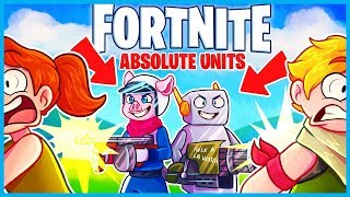 HOW to be an ABSOLUTE UNIT in Fortnite: Battle Royale! (Fortnite Funny Moments & Fails)