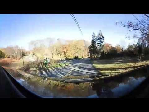 360° Video   Driving on a Rural Road   Smithfield, Rhode Island