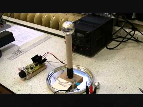 """""""12v Solid State Mini Tesla Coil"""" with Circuit Diagram"""