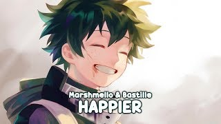 「Nightcore」- Happier (Marshmello ft. Bastille) [8D Audio / Lyrics] 🎧