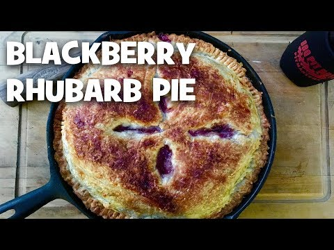 Grilled Blackberry Rhubarb Pie by the BBQ Pit Boys