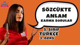 Karma Sorular | Sözcükte Anlam 3 | 5. Sınıf Türkçe Örnek Soru Çözümleri #5trkc