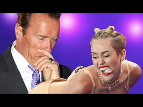 What Happened When Miley Cyrus Twerked For Arnold Schwarzenegger & Not For Patrick Schwarzenegger!
