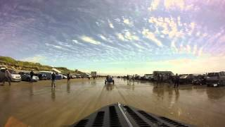 Pendine Sands Hot Rod Races 2015  Cruise onto the beach.