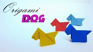 Origami Puppy Dog  🐩  How to make a Paper Dog for Kids - Cute Origami Dog Tutorial By Paper Work
