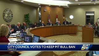 Fairfield City Council votes to keep pit bull ban