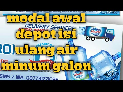 menghitung modal usaha depot isi ulang galon berapa modal ...