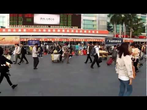 Frantz à Shenzhen :une des gares de Canton.MP4