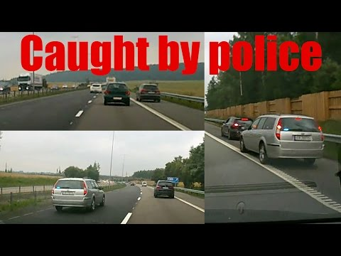 Drives on shoulder, caught by undercover police car - Ullensaker, Akershus (Norway)