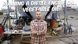 RUNNING A DIESEL ON VEGETABLE OIL (Part 1 cleaning the tank) Steel Boat Adventures BRUPEG (Ep. 37)
