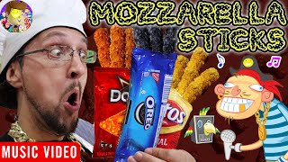 MOZZARELLA STICKS 🎵 Raptain Hook (Designer DIY Gourmet Food FV FAMILY Animated Music Video!)