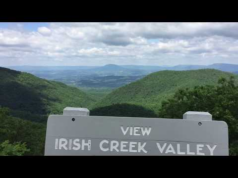 Blue Ridge Parkway views from Waynesboro to Buena Vista, VA  5-26-17