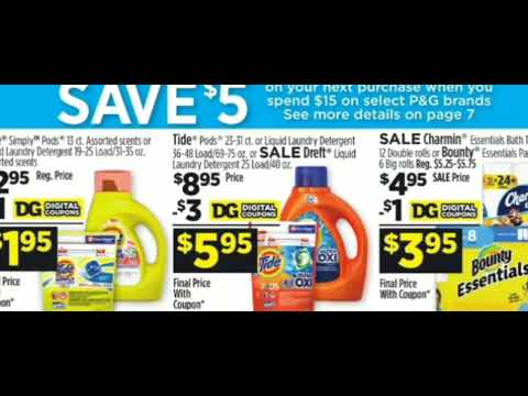 Save $5 On $15 Worth Of P&G At Dollar General