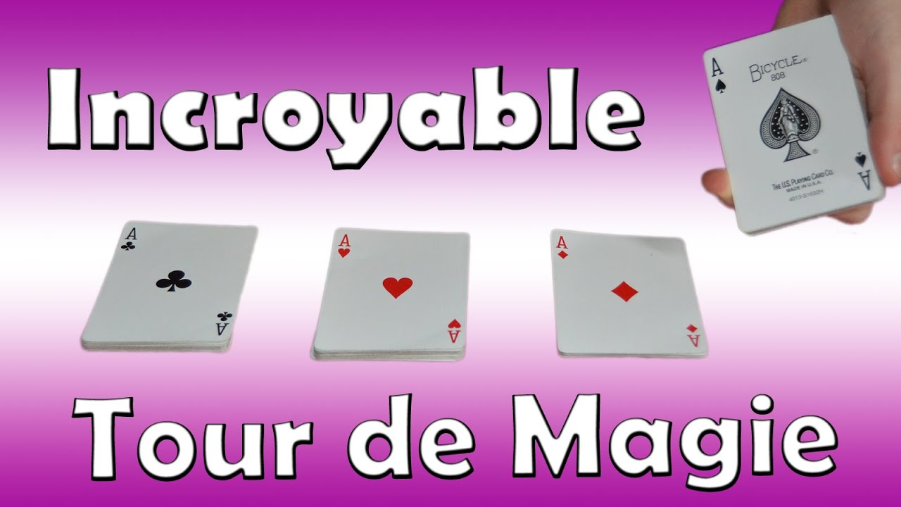tour de magie carte 4 as