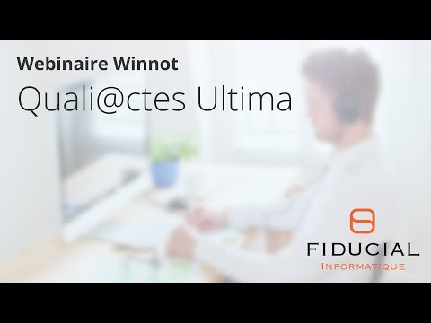 Webinaire 100% Télé@ctes Winnot #9 : Quali@ctes Ultima