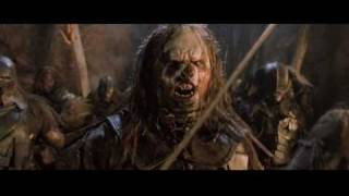 Repeat youtube video LOTR - The Fighting Uruk Hai (Correct Version)