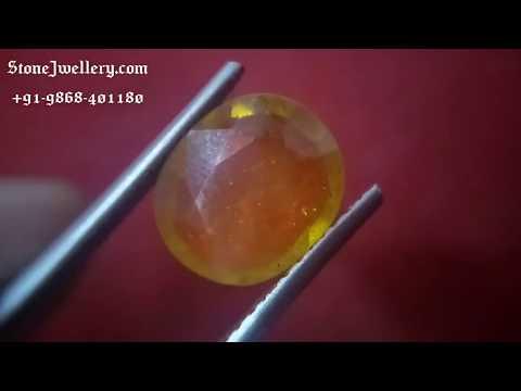 5.20 Carat Bangkok Yellow Sapphire - Pukhraj Stone | StoneJwellery | +91-9868-401180