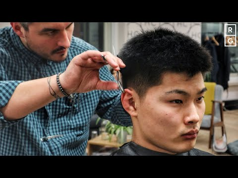 grown-out-buzz-cut-look-textured-haircut-for-asian-thick-hair