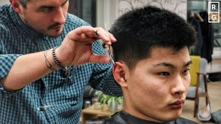 Grown Out Buzz Cut Look Textured Haircut For Asian Thick Hair