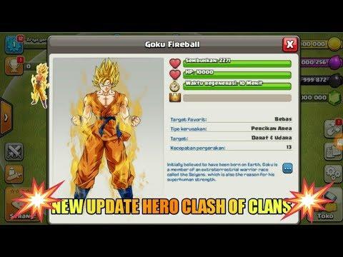 NEW HERO GOKU IN CLASH OF CLANS AMAZING HERO DAMAGE