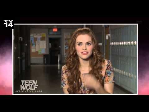 Holland Roden embarrassing moment on Teen Wolf set