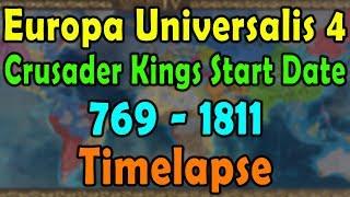 Europa Universalis 4 Crusader Kings Start Date Timelapse 769-1811