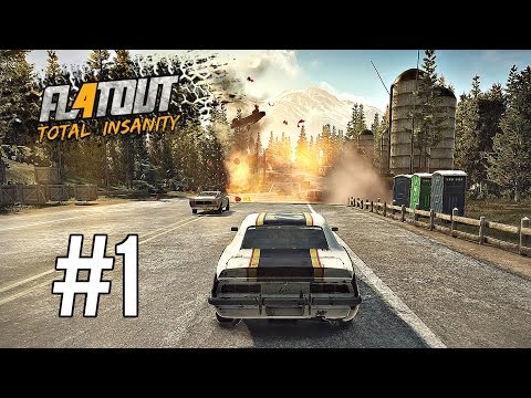 FlatOut 4 Total Insanity Career Mode Part 1 - DERBY CUP! (Ps4 Pro Gameplay)