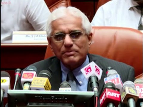 Central Bank governor Dr Indrajit Coomaraswamy's first media briefing