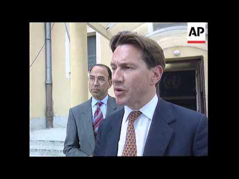 CROATIA: ZAGREB: UK DEFENCE SECRETARY MICHAEL PORTILLO VISIT
